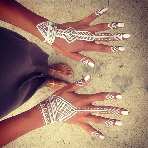 white henna tattoo art inspiration of the month free spirit chic stylista by