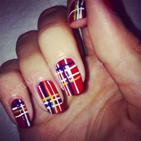 nail art tartan tutorial tartan nails nail art gallery