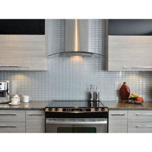 Stainless Steel Tile Backsplash Home Depot by Smart Tiles Stainless 10 625 In W X 10 00 In H