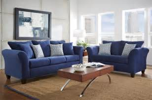 navy blue leather furniture blue living room set new