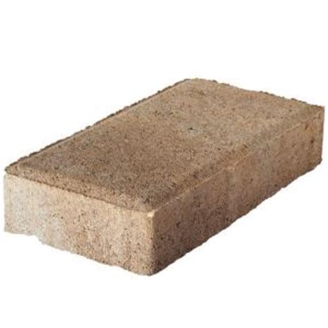 Interlocking Concrete Blocks Home Depot Pavestone 4 In X 8 In 45 Mm River Concrete