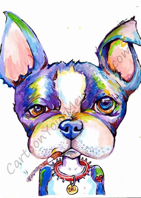 watercolor tattoos in boston boston terrier the bad watercolor print watercolor