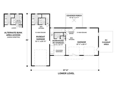 carriage rv floor plans carriage house plans carriage house plan with rv bay