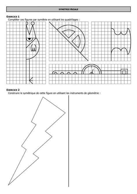 Symétrie axiale - 6ème - Exercices - Correction - Collège