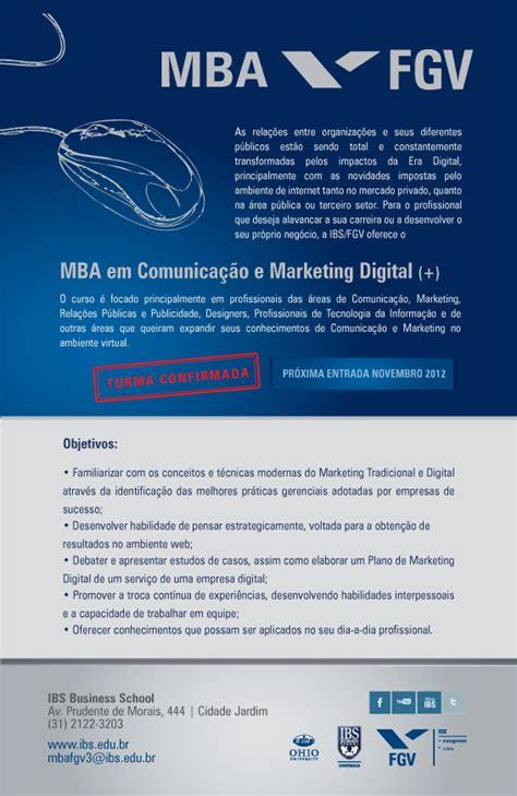 Mba Fgv Belem by Inscri 231 245 Es Abertas Para Mba Em Comunica 231 227 O E Marketing