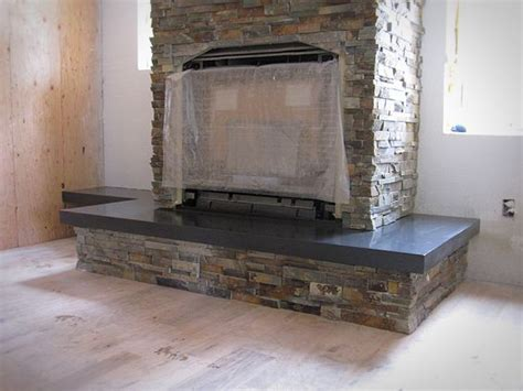 Fireplace Concrete Mix by Need Fireplace Idea Small Cabin Forum