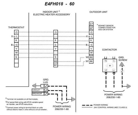 electrical wiring diagram for heat electrical