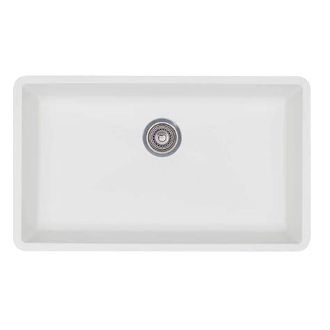 White Undermount Kitchen Sink Blanco Precis Undermount Granite Composite 32 In Single Basin Kitchen Sink In White
