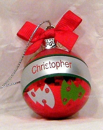 ganz xmas tree ornament mini ball name christopher personalized red 1 5 quot round ebay