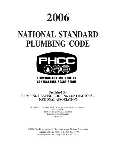 2012 National Standard Plumbing Code plumbing code of the philippines free