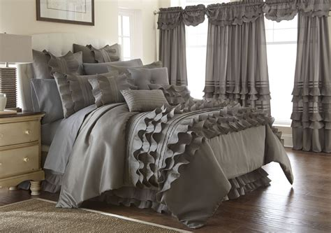 piece platinum ruffled comforter set queen