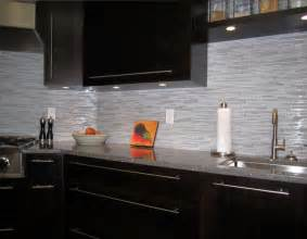 Modern Kitchen Tile Backsplash Espresso Kitchen With Glass And Marble Mosaic Tile