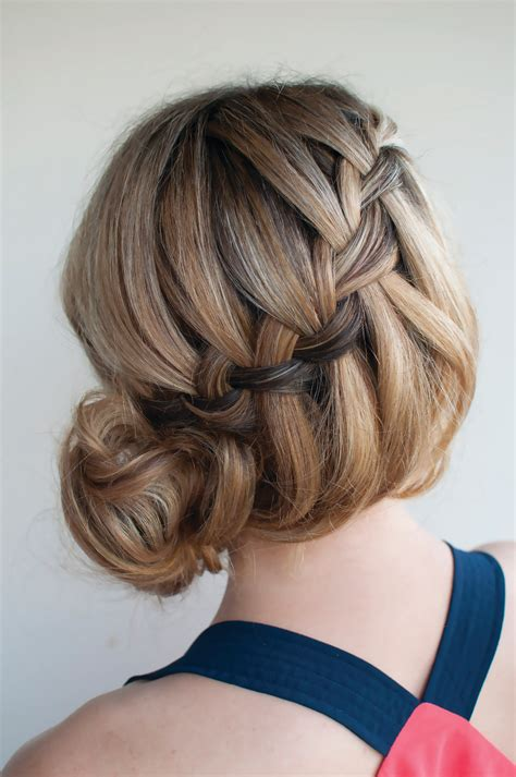hair bun waterfall bun 183 extract from braids buns and twists by