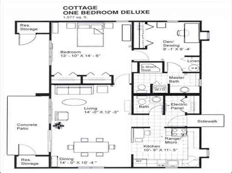 1 bedroom cottage floor plans 1 bedroom cabins designs 1 bedroom cabin floor plans one