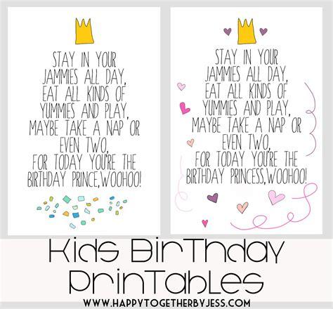 printable birthday quotes free free kids birthday printable