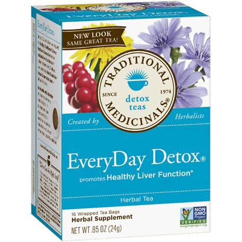 Site Detox Tea Currently Unavailable by Everyday Detox Tea 16 Bags Traditional Medicinals Teas