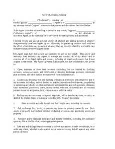 Authorization Letter Of Special Power Of Attorney Special Power Of Attorney Forms Hashdoc