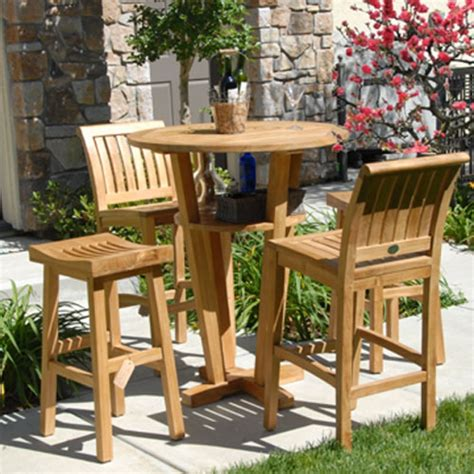 Teak Bar Table And Stools by Teak Bar Stool Titan