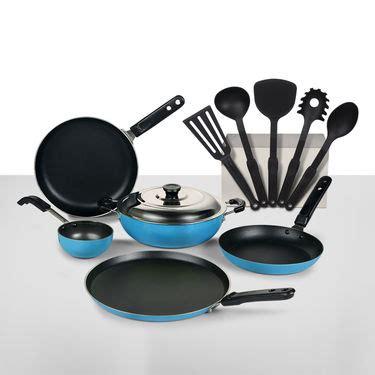 buy 11 pcs coloured non stick cookware set online at best