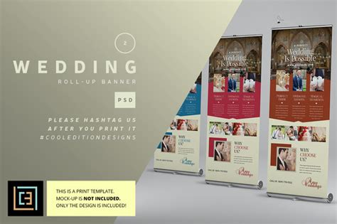 Banner Wedding Organizer by Wedding Roll Up Banner 2 Flyer Templates On Creative