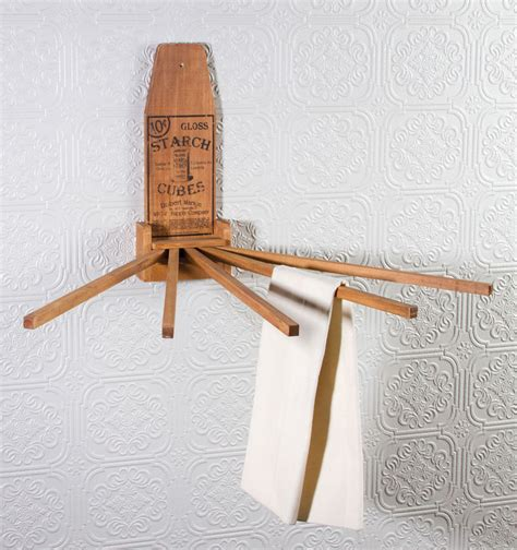 vintage style kitchen towel drying rack