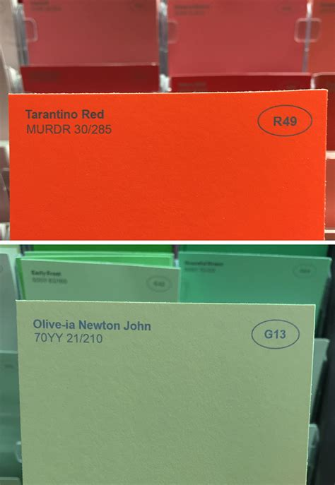 strange color names obvious plant adds clever names to ordinary paint