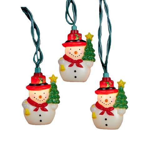 Snowman Christmas Party String Lights 10 Lights Snowman String Lights