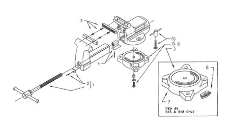 diagram of a bench vice buy wilton 648a hd a 2000 replacement tool parts