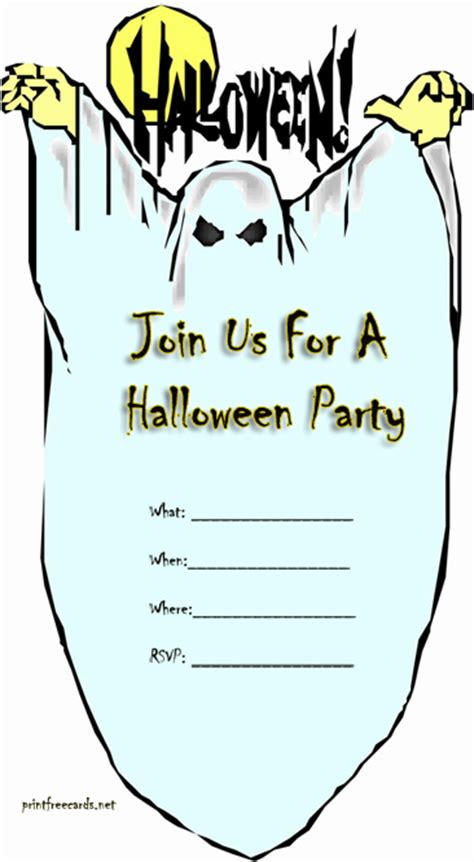 printable halloween invitations to color free printable halloween party invitations festival