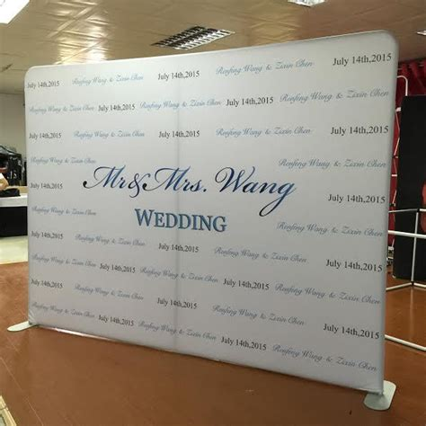 Wedding Backdrop Logo by Logo Walls For Weddings