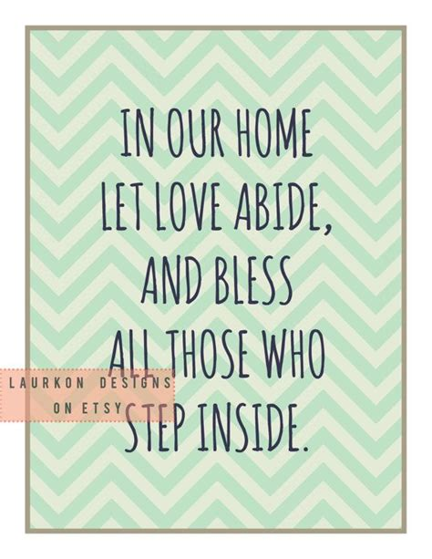 printable quote quot in our home let abide and bless