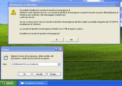 windows xp console di ripristino analisi approfondita delle possibilit 224 offerte dalla