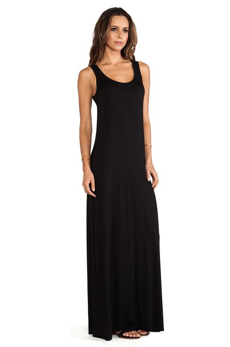 Tank Maxi Dress lyst michael sleeveless tank maxi dress in black