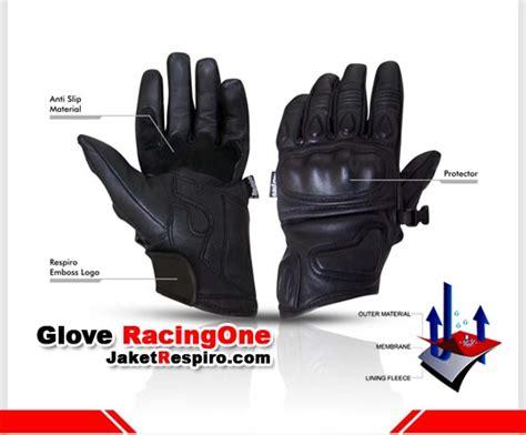 Sarung Tangan Kulit Racing Velcro sarung tangan kulit motor respiro racing one jaket