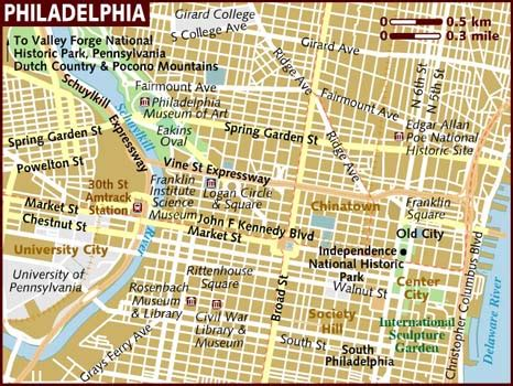 usa philadelphia map map of philadelphia