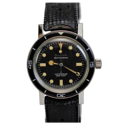 bulova dive bulova co stainless steel 666 diver s wristwatch