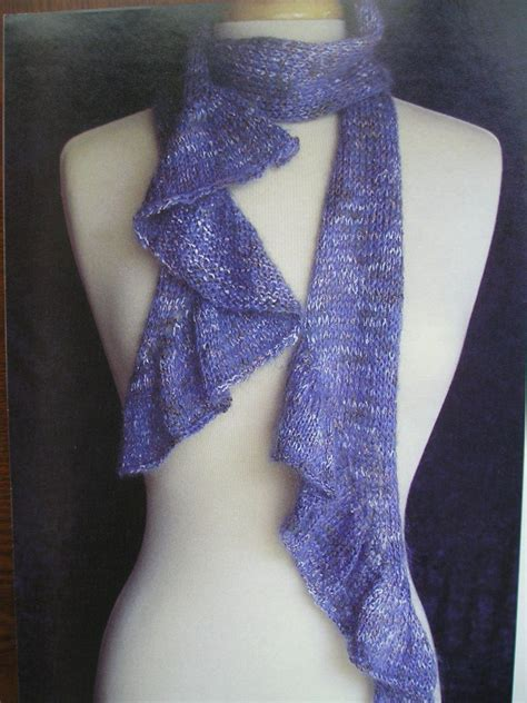 pattern taper rows of purls tapered ruffles scarf