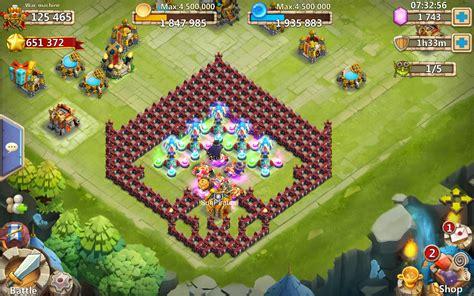 Castle Corner 17 castle clash brave squads
