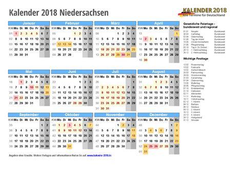 Kalender 2018 Zum Ausdrucken Mit Ferien Niedersachsen Kalender 2018 Niedersachsen Zum Ausdrucken 171 Kalender 2018