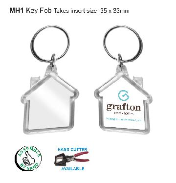 printable house key key fob shaped mini house mh1