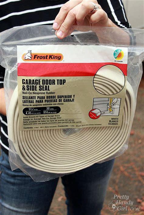 weatherstrip your garage doors