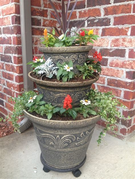 My New 3 Tier Planter I Love It Flower Pots 3 Tier Planter