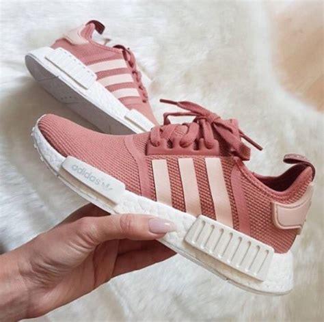 shoes adidas shoes adidas pink shoes pink sneakers pink running shoes pastel wheretoget