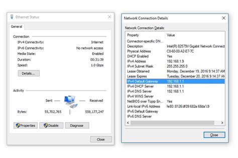 how to find your default gateway ip address in windows