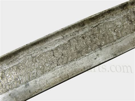 pattern welded vs damascus balkan ottoman yataghan sword with damascus twist blade