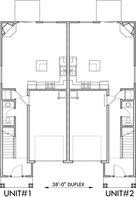Narrow Lot Duplex House Plans Two Story Duplex House Plans Two Storey Duplex House Plans