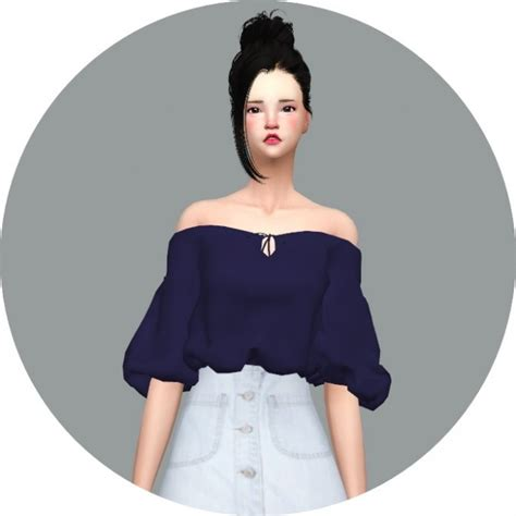 lace shirt the sims 4 off shoulder summer blouse at marigold 187 sims 4 updates
