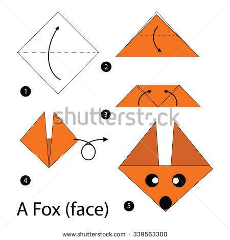 Step By Step How To Make A Paper Snowflake - origami fox stock images royalty free images vectors