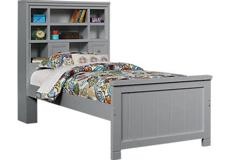 rooms to go bookcases shop for a cottage colors gray 3 pc bookcase bed at