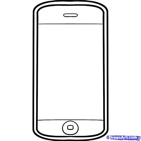 cell phone template templates clipart mobile phone pencil and in color